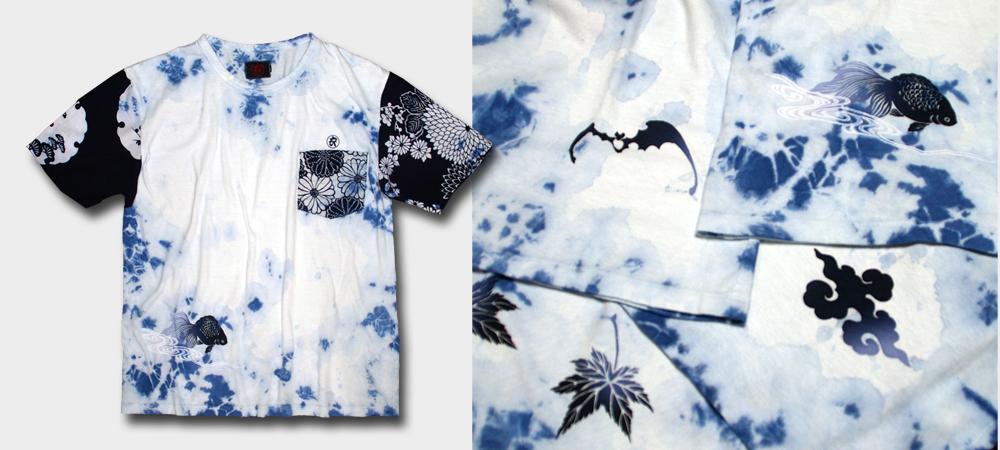 Tシャツ-藍ムラ