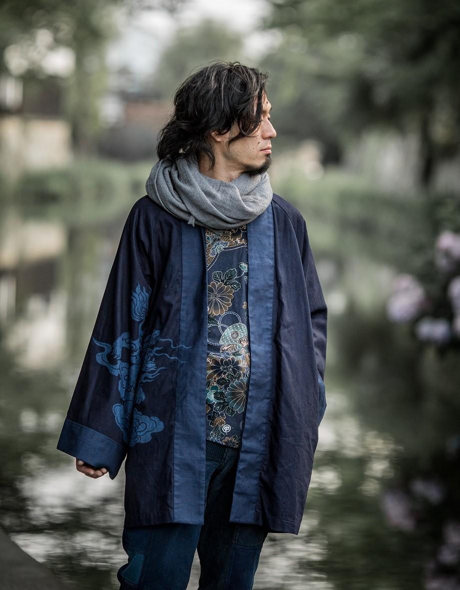 羽織りハーフコート