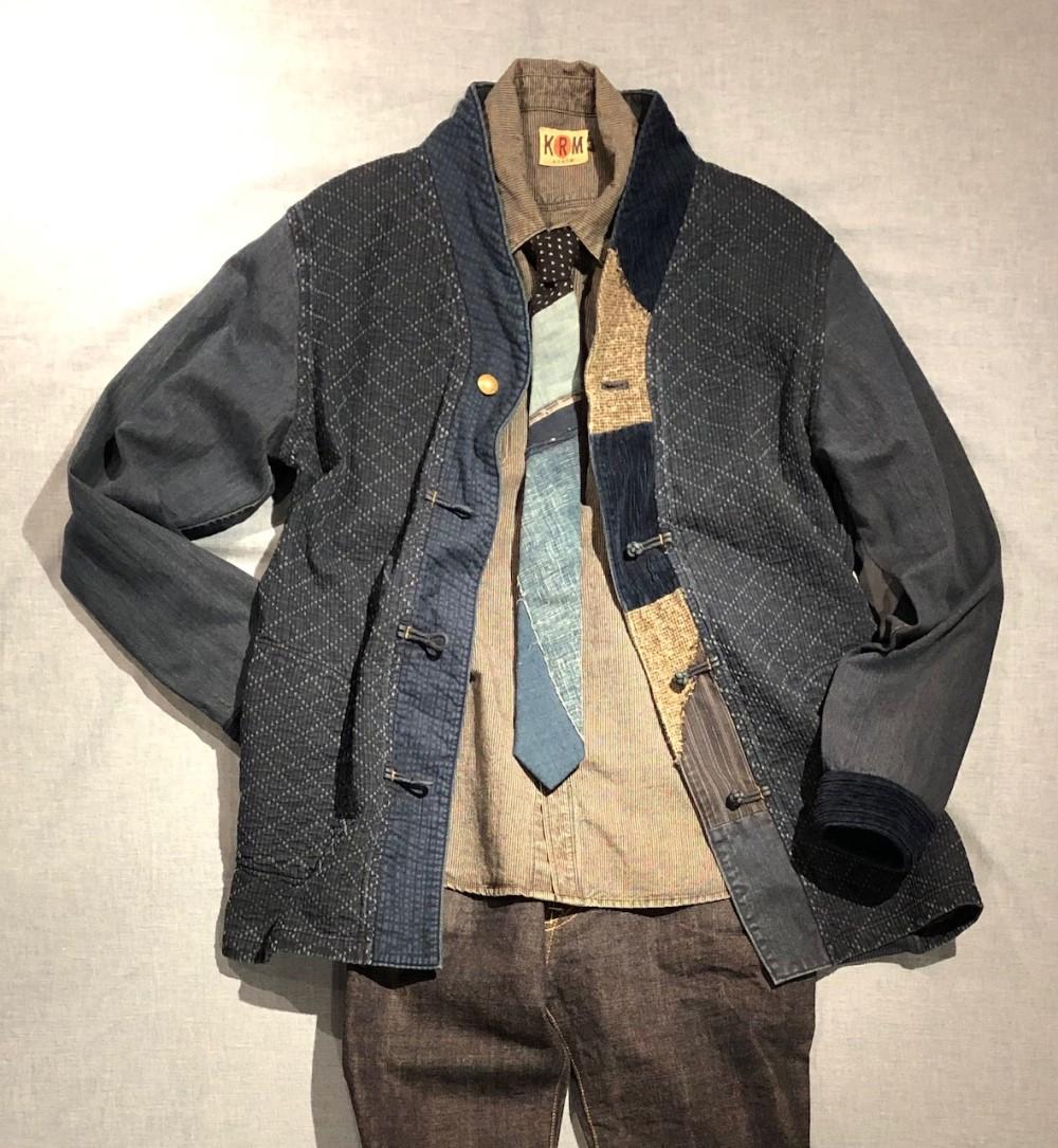 菱刺し子着物衿ジャケット2
