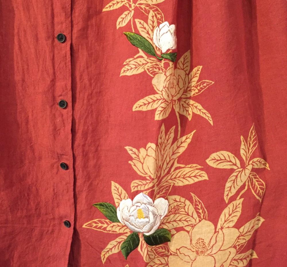 刺繍のアップ写真