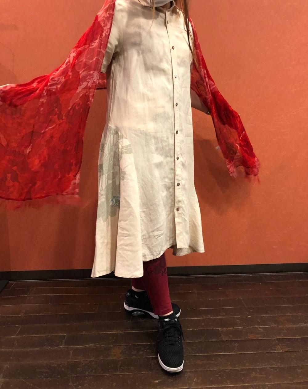 ふわり裾舞花ワンピース (2)