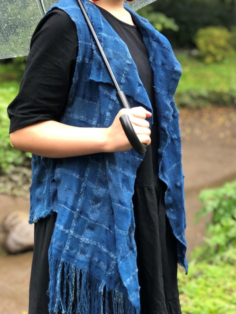 徳島阿波藍機織り染色 (6)